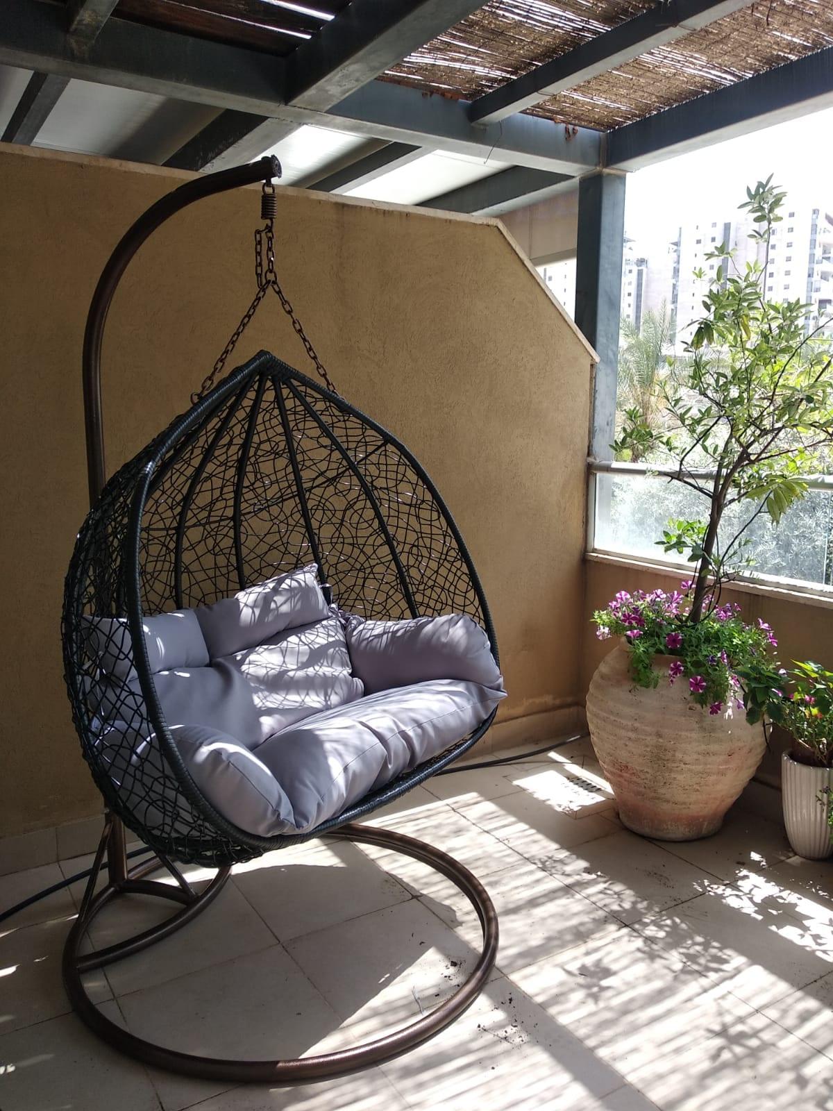 ערסל זוגי למרפסת ולגינה