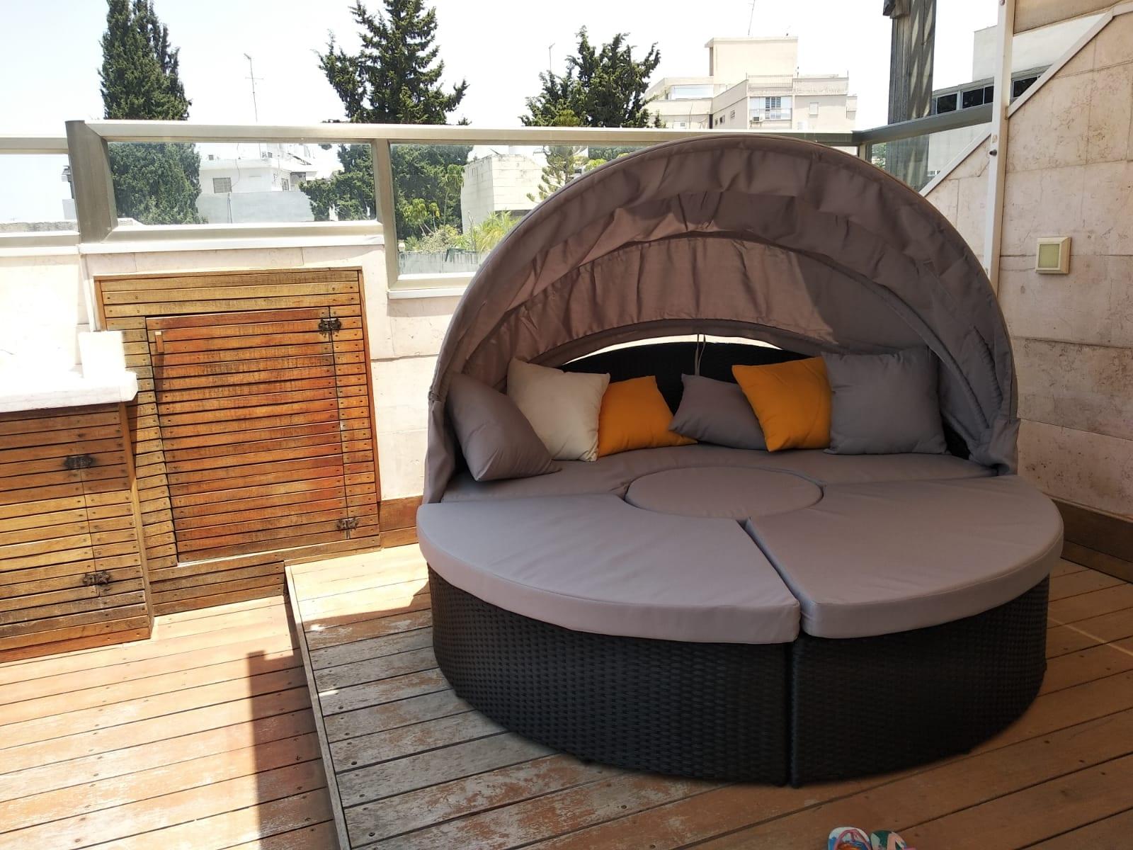 מיטת רביצה עגולה