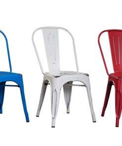 כסא מתכת לפינת אוכל