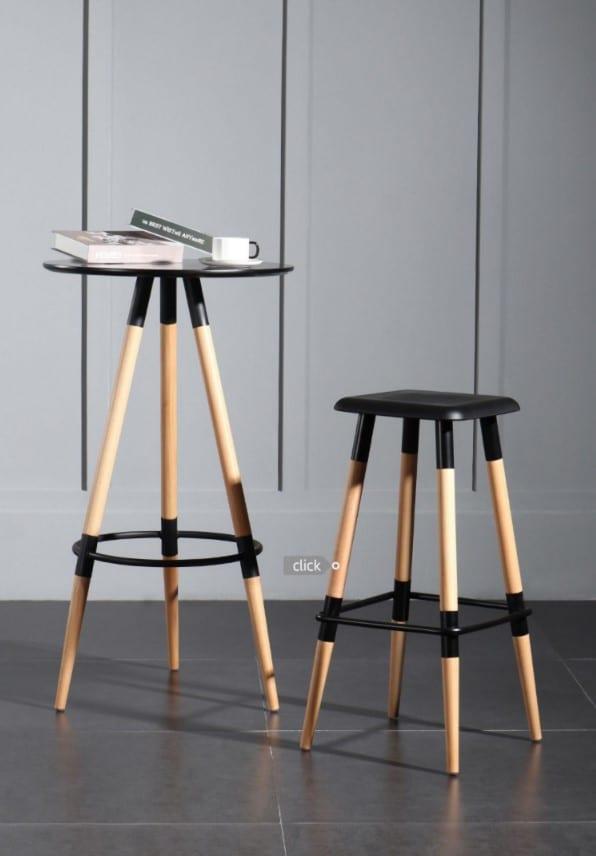 שולחן בר שחור מודרני