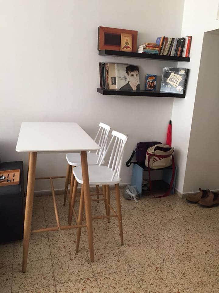 כסאות בר קשת ושולחן בר אוסקר