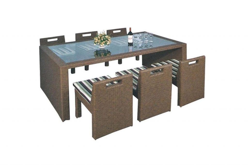 שולחן וכסאות למרפסת ולגן