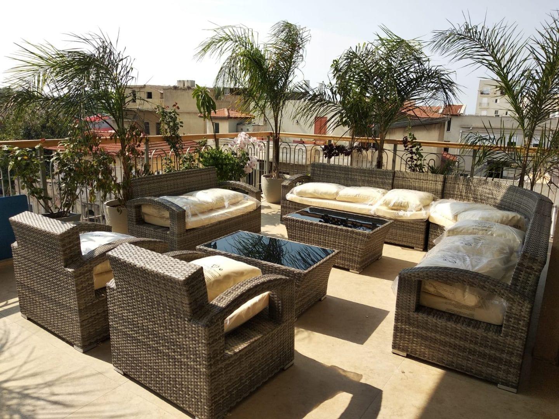 מערכת ישיבה ענקית לגינה ולמרפסת